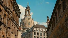 Старый городок Дрездена - крыш барочных зданий красных домов на t Стоковая Фотография RF