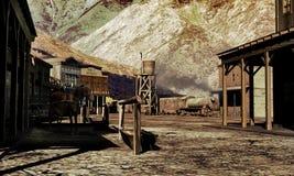 старый городок западный иллюстрация штока