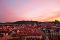 старый городок захода солнца prague стоковая фотография