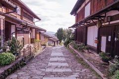 Старый городок или старые здания Magome для путешественников wal Стоковая Фотография