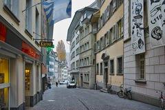Старый городок и исторический центр города Luzern, Швейцарии Стоковая Фотография