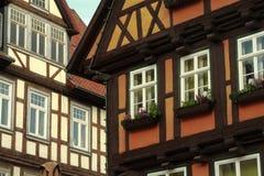 Старый городок Кведлинбурга стоковые изображения rf