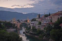 Старый городок Мостара, Боснии и Герцеговины, стоковые изображения rf