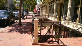 Старый городок Окленд, Калифорния стоковое изображение rf