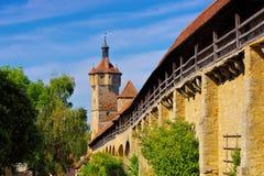 Старый городок Ротенбург в Германии стоковые фотографии rf