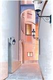 старый городок улицы Стоковая Фотография