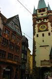 Старый городок Фрайбурга в Германии стоковая фотография