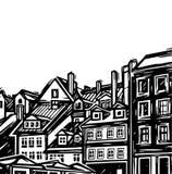 старый городок Стоковые Фото