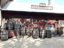 Старый городок barrels склад исторический Стоковое Фото