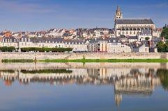 Старый городок Blois в Loire Valley Франции стоковое фото rf