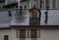 Старый городок Hallstatt, Австрии стоковая фотография rf