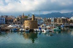 Старый городок Kyrenia стоковая фотография rf