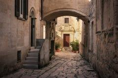 старый городок Matera Базиликата Apulia или Апулия Италия стоковое изображение