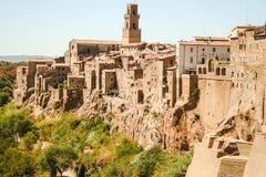 Старый городок Pitigliano стоковое фото rf