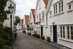 старый городок stavanger Стоковое Фото