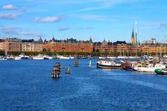 старый городок stockholm Швеции стоковые изображения