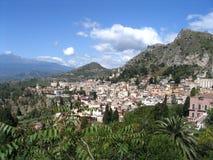 старый городок taormina Стоковое Изображение RF