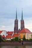 Старый городок Wroclaw (острова Tumski), Польша Стоковое Фото