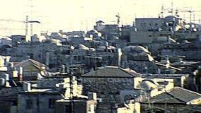 Старый город городского пейзажа Иерусалима сток-видео