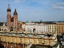 Старый город Краков Польши стоковые изображения rf