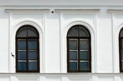 Старый город, мило пригородный городок Архитектурноакустические детали и декабрь Стоковое Фото