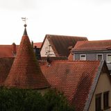 Старый город расквартировывает крыши Gelnhausen Стоковые Изображения RF