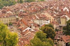 Старый город средневековый центр города Bern, Швейцарии Стоковая Фотография RF