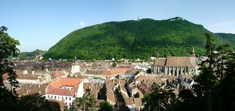 Старый город Brasov, Румыния стоковые фотографии rf