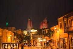 Старый город Баку Стоковое Изображение RF