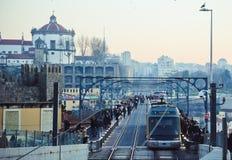 Старый город вечера в Порту Стоковое фото RF