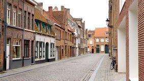Старый город городка в Brugge Бельгии Стоковое Изображение RF