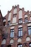 Старый город кирпичного здания Стоковое Изображение