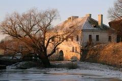 Старый город на заходе солнца Стоковое Изображение