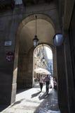Старый городок, Барселона Стоковая Фотография RF