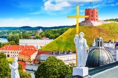 Старый городок Вильнюса, Литвы стоковые изображения rf