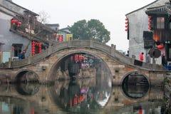 Старый городок воды в фарфоре Стоковые Изображения RF
