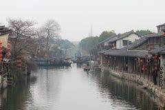 Старый городок воды в фарфоре Стоковые Изображения