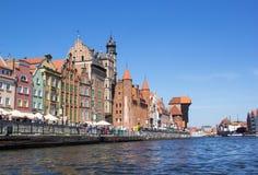 Старый городок в Гданьск, Польша Стоковое Изображение
