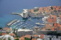 Старый городок в Дубровнике, Хорватии Стоковое Изображение
