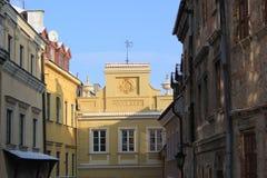 Старый городок в Люблине стоковые фотографии rf