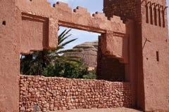 Старый городок в Марокко, типичной морокканской архитектуре Стоковое Фото
