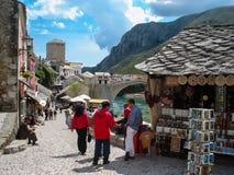 Старый городок в Мостаре, Босния и Герцеговина Стоковые Изображения