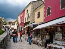 Старый городок в Мостаре, Босния и Герцеговина Стоковое Изображение RF