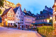 Старый городок в Нюрнберге, Германии стоковое изображение rf