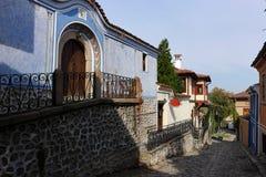 Старый городок в Пловдиве Стоковые Фотографии RF