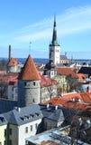 Старый городок в Таллине стоковое изображение rf