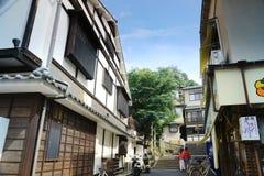 Старый городок в Miyajima Itsukushima Стоковое Изображение