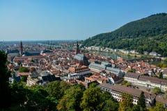 Старый городок Гейдельберга от замка стоковое фото rf