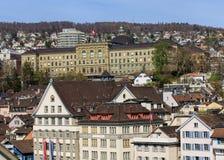 Старый городок города Цюриха в весеннем времени Стоковая Фотография RF