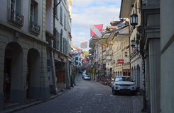 Старый городок города Thun (Швейцария) Стоковые Изображения RF